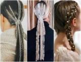 Горный хрусталь и цепь вместо заколок для волос: тенденции, украшения для волос и прически в 2019 году
